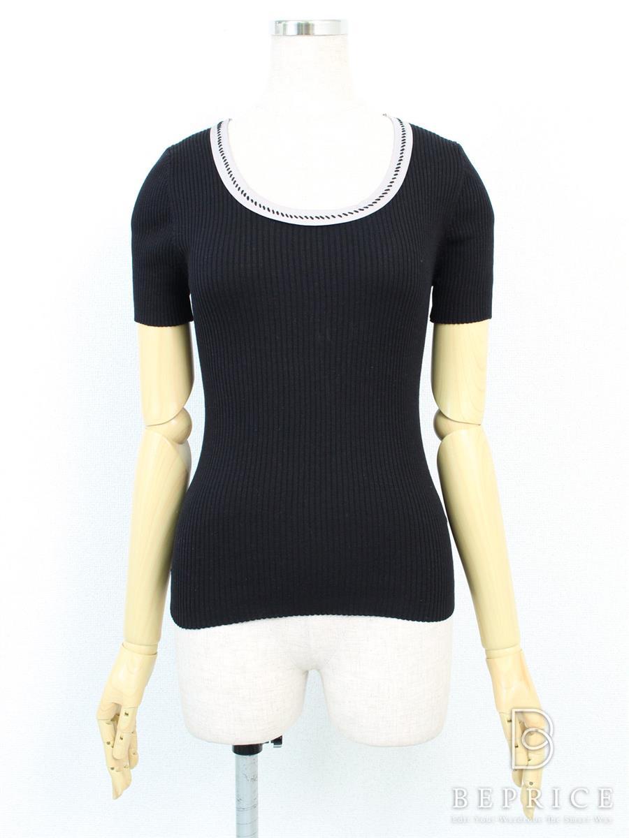 ポールカ Tシャツ カットソー トップス 半袖 ストレッチ 胸元使用感あり