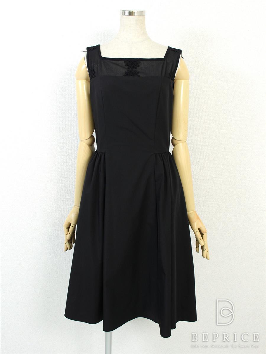 フォクシーニューヨーク ワンピース ブラックマーガレットドレス