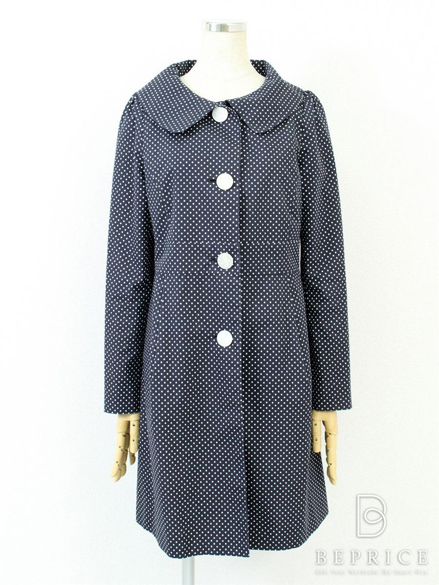 ハロッズ コート コート スプリング ドット柄 小さなシミあり