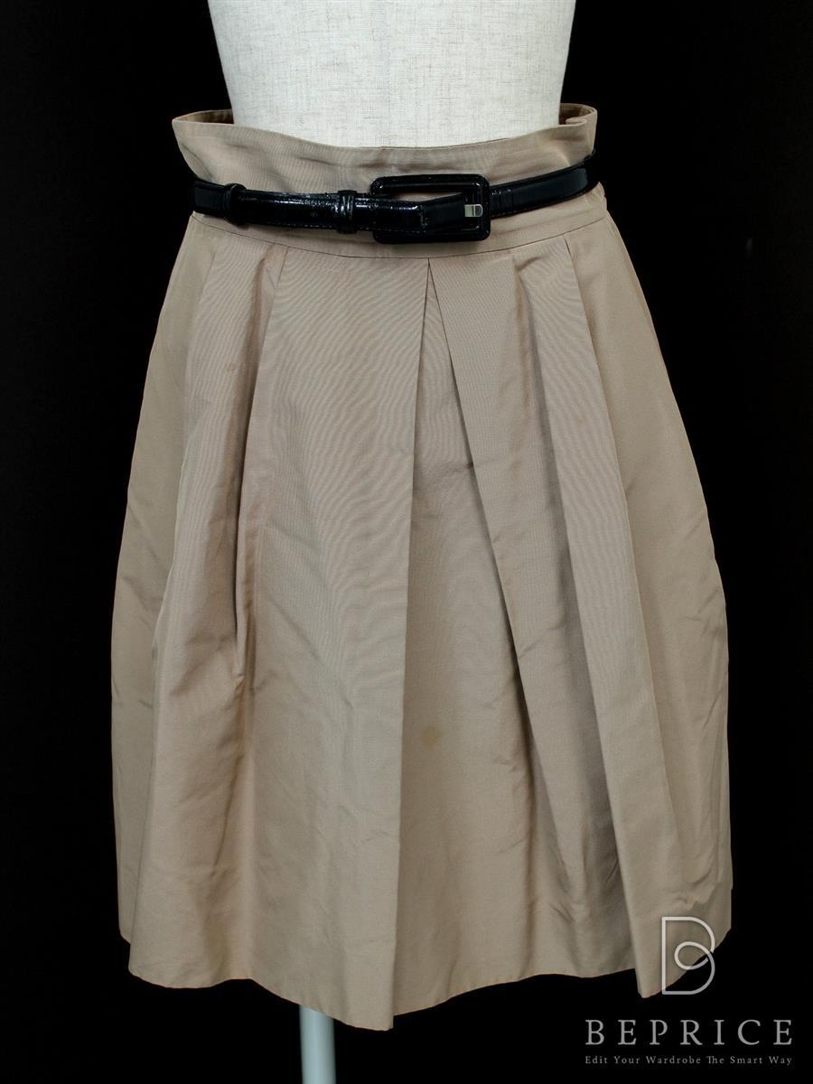 フォクシーブティック スカート スカート シルクグログラン 小さなシミあり 24539