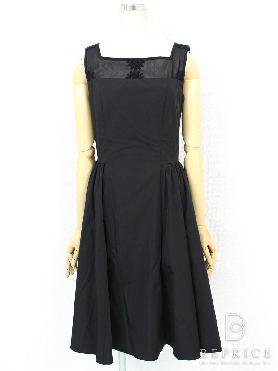 フォクシーニューヨーク ワンピース ワンピース ブラックマーガレットドレス 29228