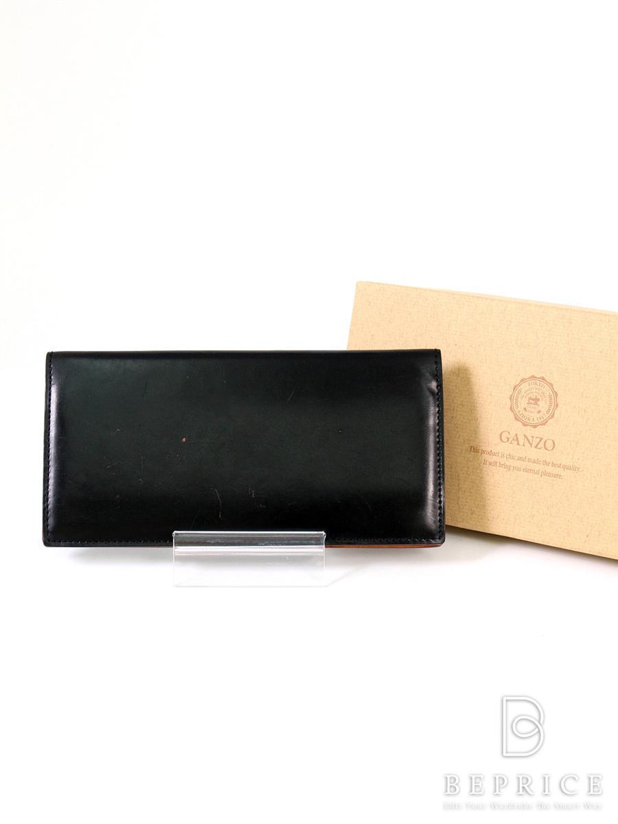 ガンゾ 二つ折長財布 コードバン