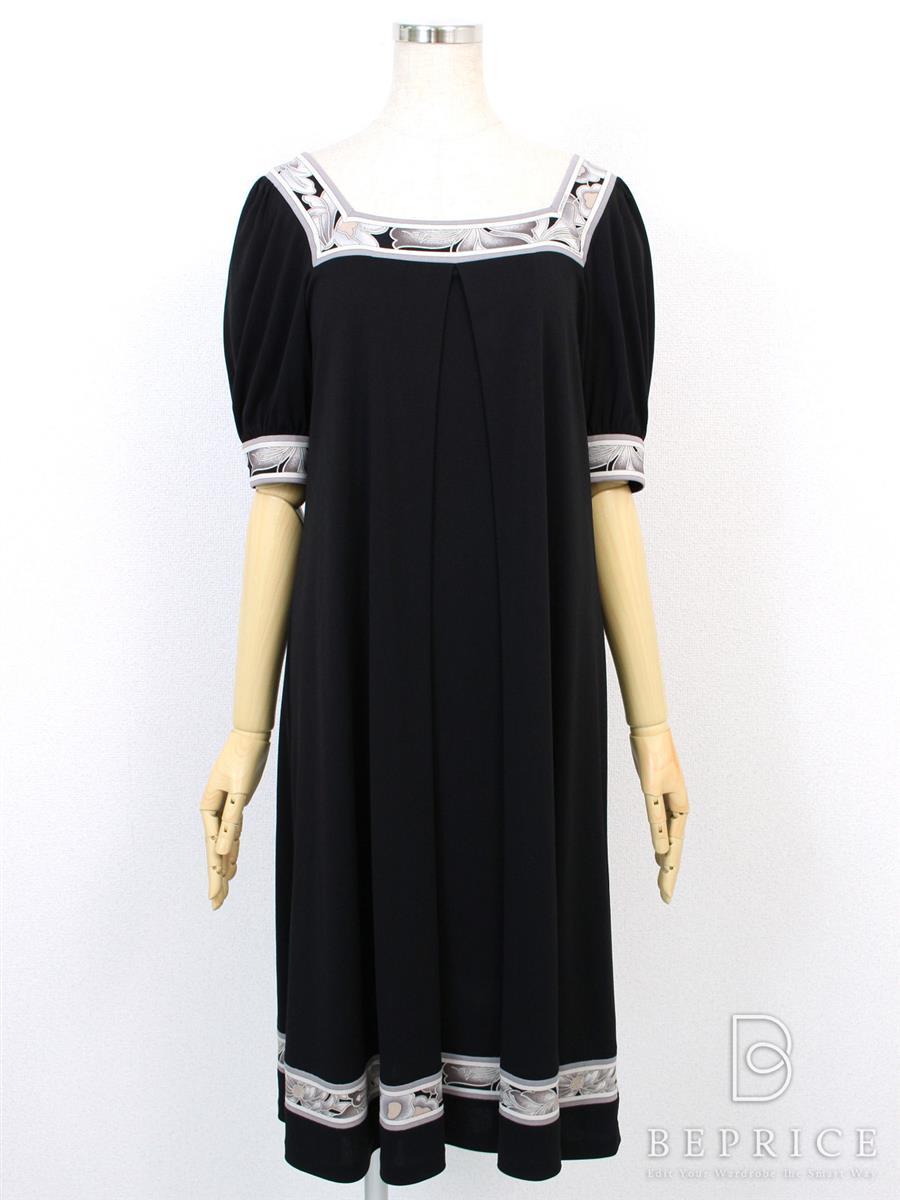 レオナール ワンピース ドレス ブラック