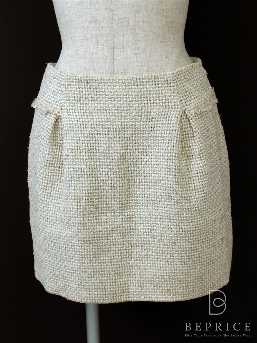 フォクシーブティック スカート ツイード シルク混 若干の糸ツレあり