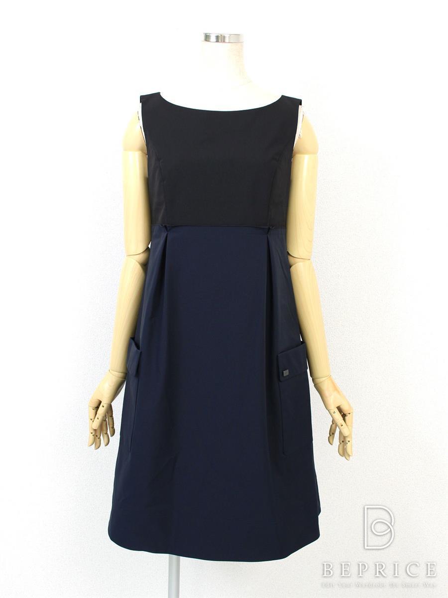 フォクシーニューヨーク ワンピース BI-COLOR DRESS