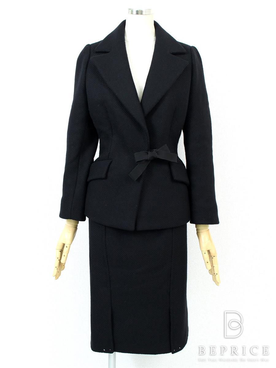 プラダ スカートスーツ スーツ スカート ジャケット ツイード風