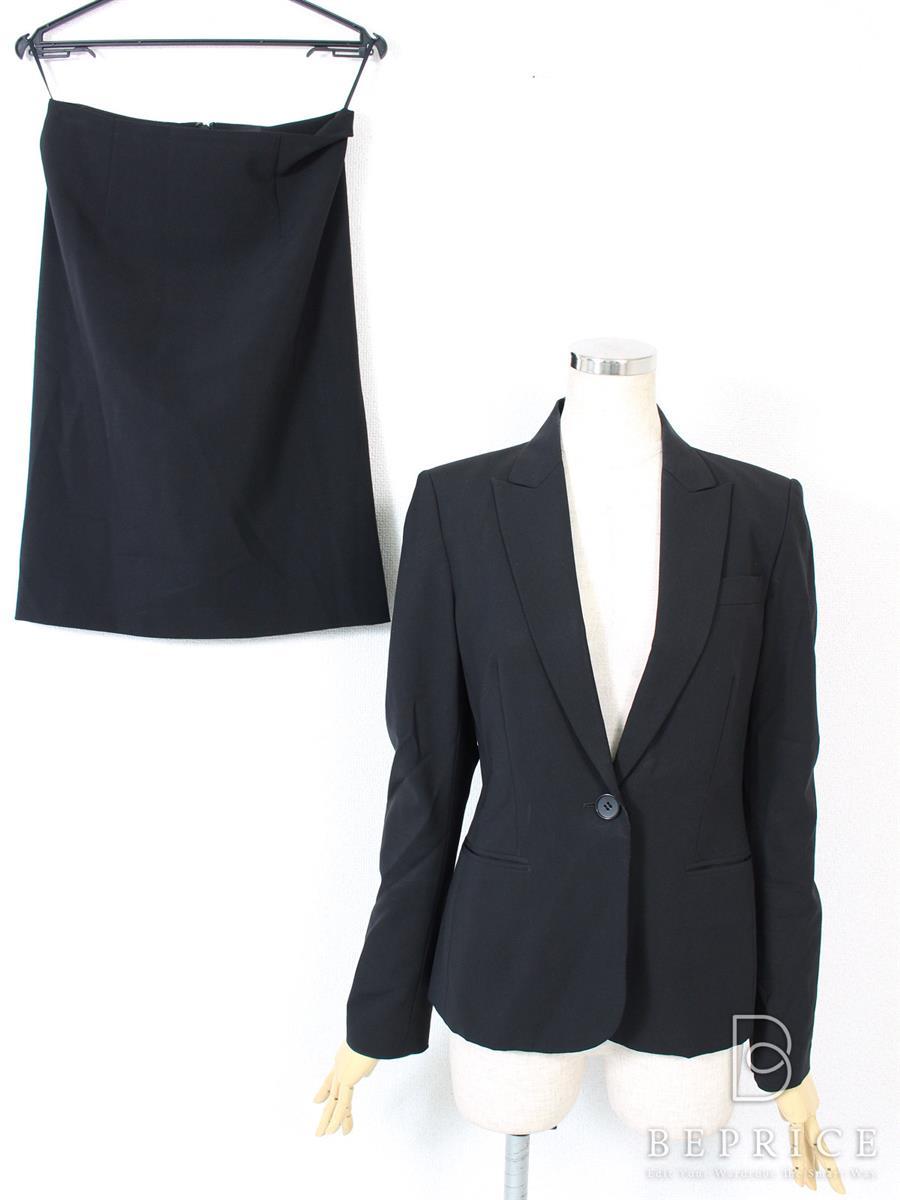 セオリー スカートスーツ スカート スーツ ジャケット 首周り汚れあり