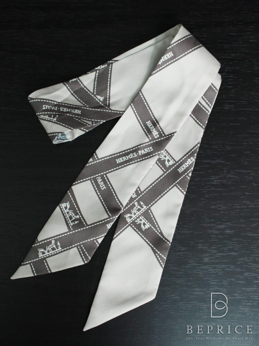 エルメス ツイリースカーフ リボン