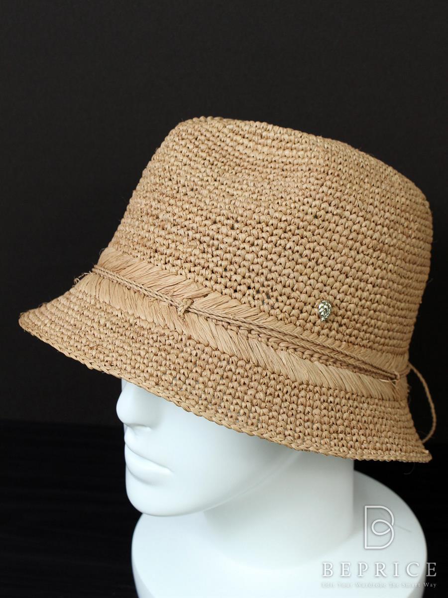 ヘレンカミンスキー 帽子 ラフィア ハット