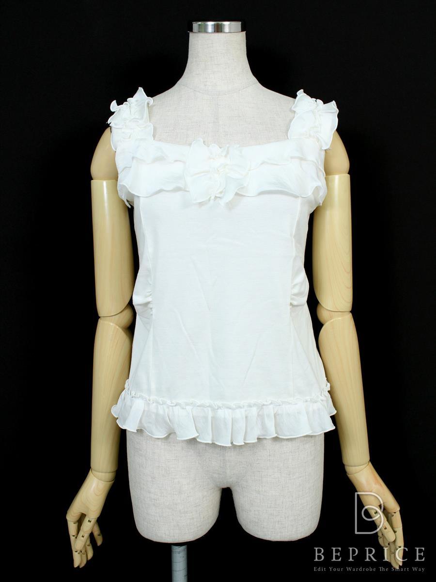 エムズグレイシー Tシャツ カットソー トップス タンクトップ 脇下毛玉・襟元擦れ汚れあり