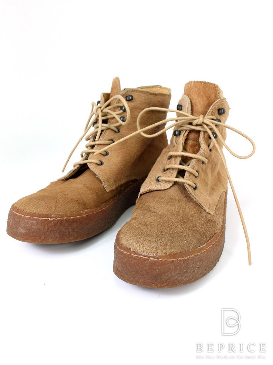 カンペール ブーツ ハラコ 汚れあり