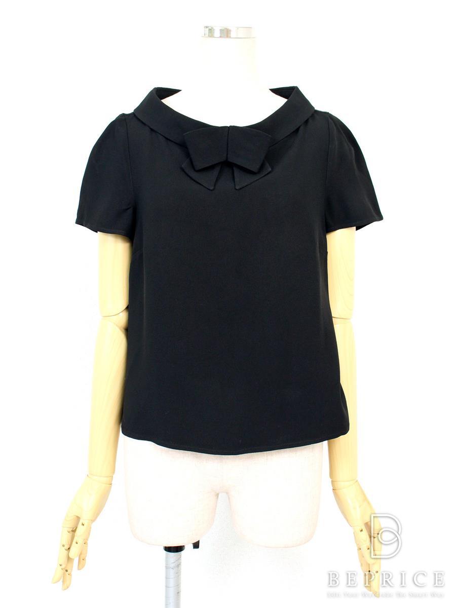 レッドヴァレンティノ Tシャツ カットソー トップス 半袖 襟リボン