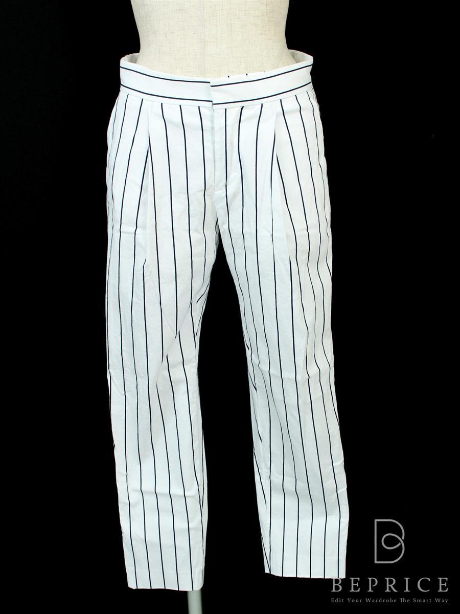 ドゥロワー パンツ パンツ ストライプ