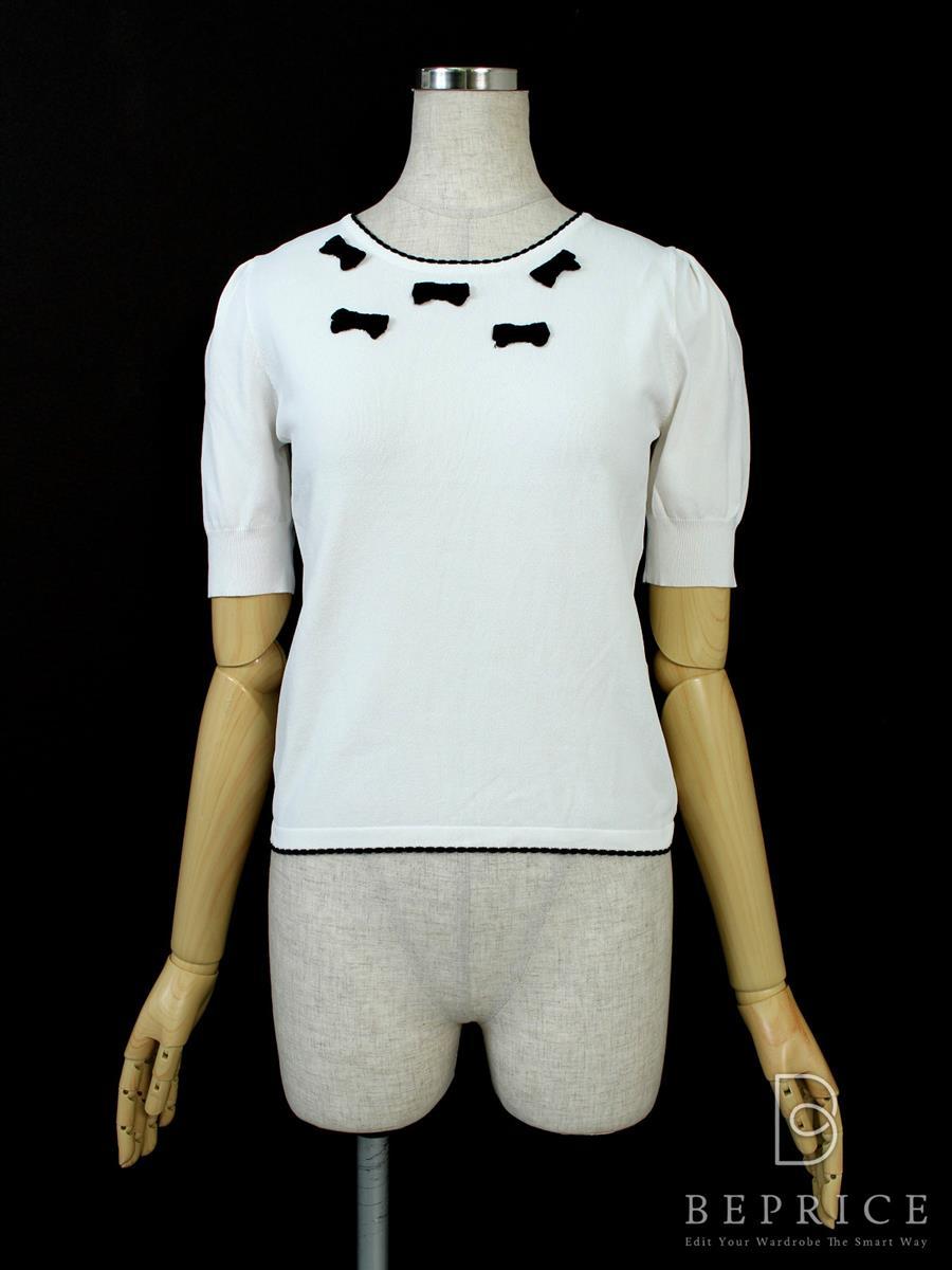 エムズグレイシー Tシャツ カットソー トップス 半袖 リボン