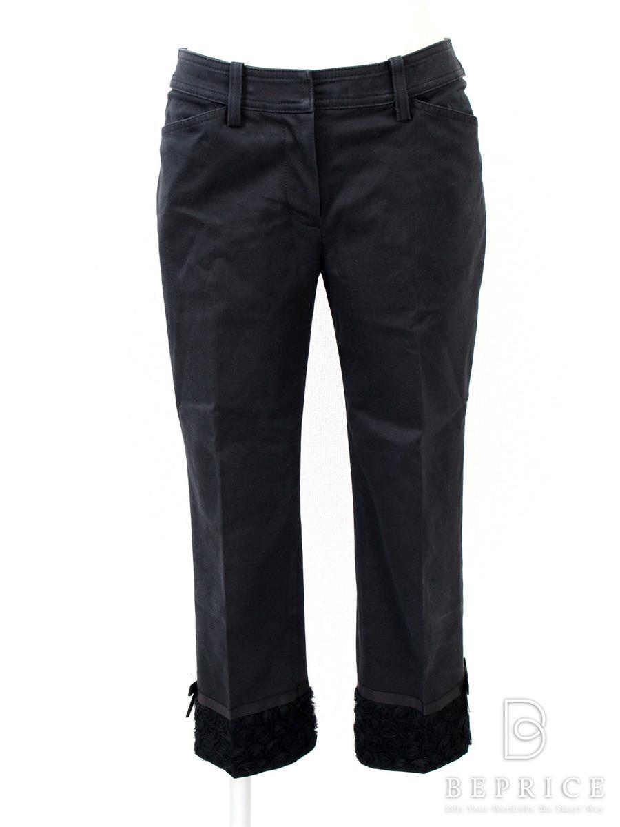 エムズグレイシー パンツ パンツ 裾レース 色褪せあり