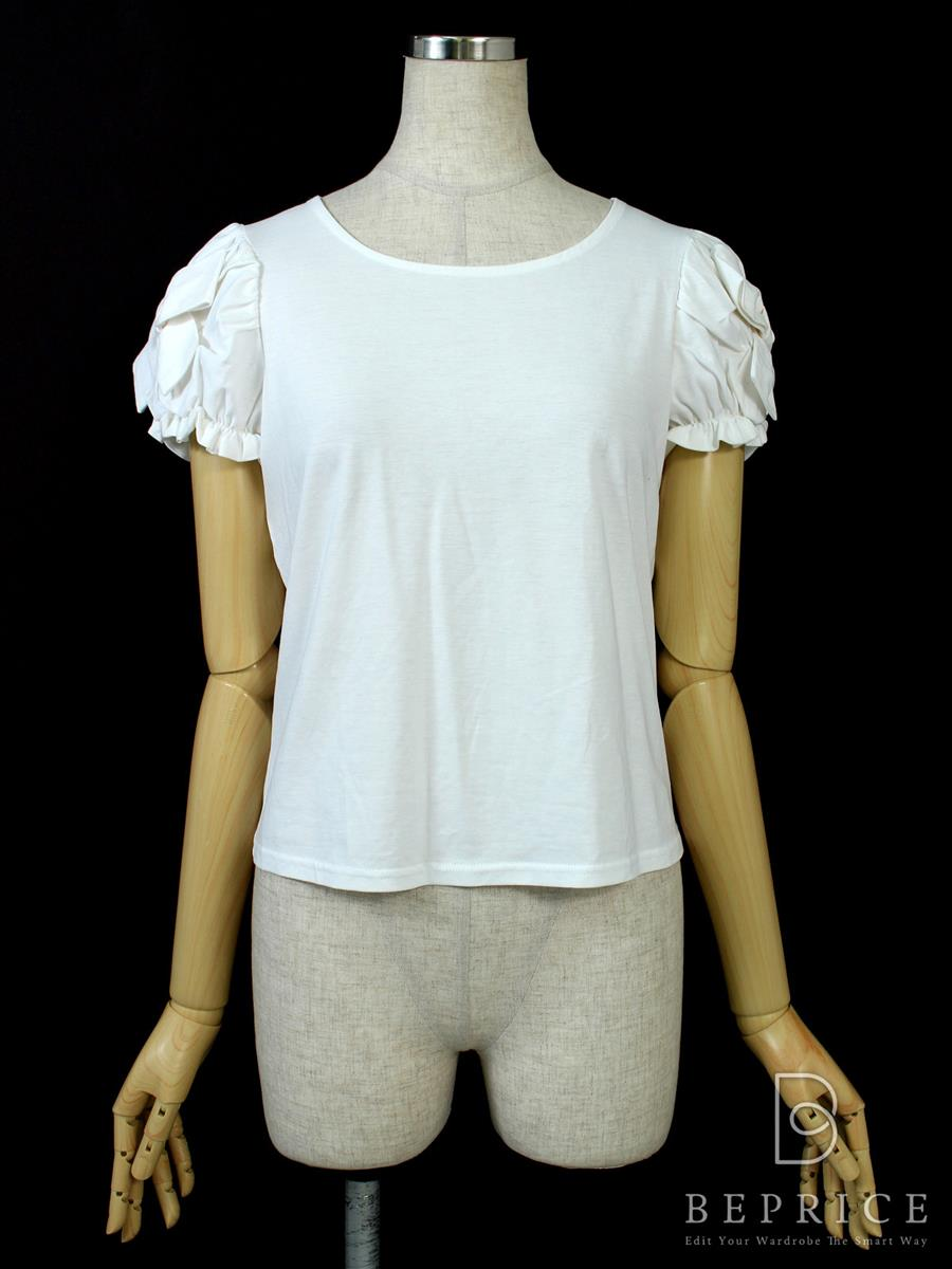 エムズグレイシー Tシャツ カットソー トップス 半袖 袖リボン