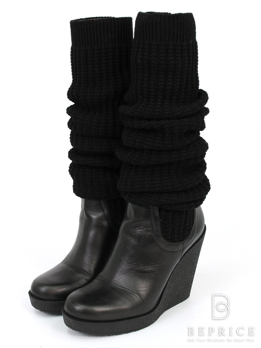 グッチ ブーツ ブーツ ニット ロング
