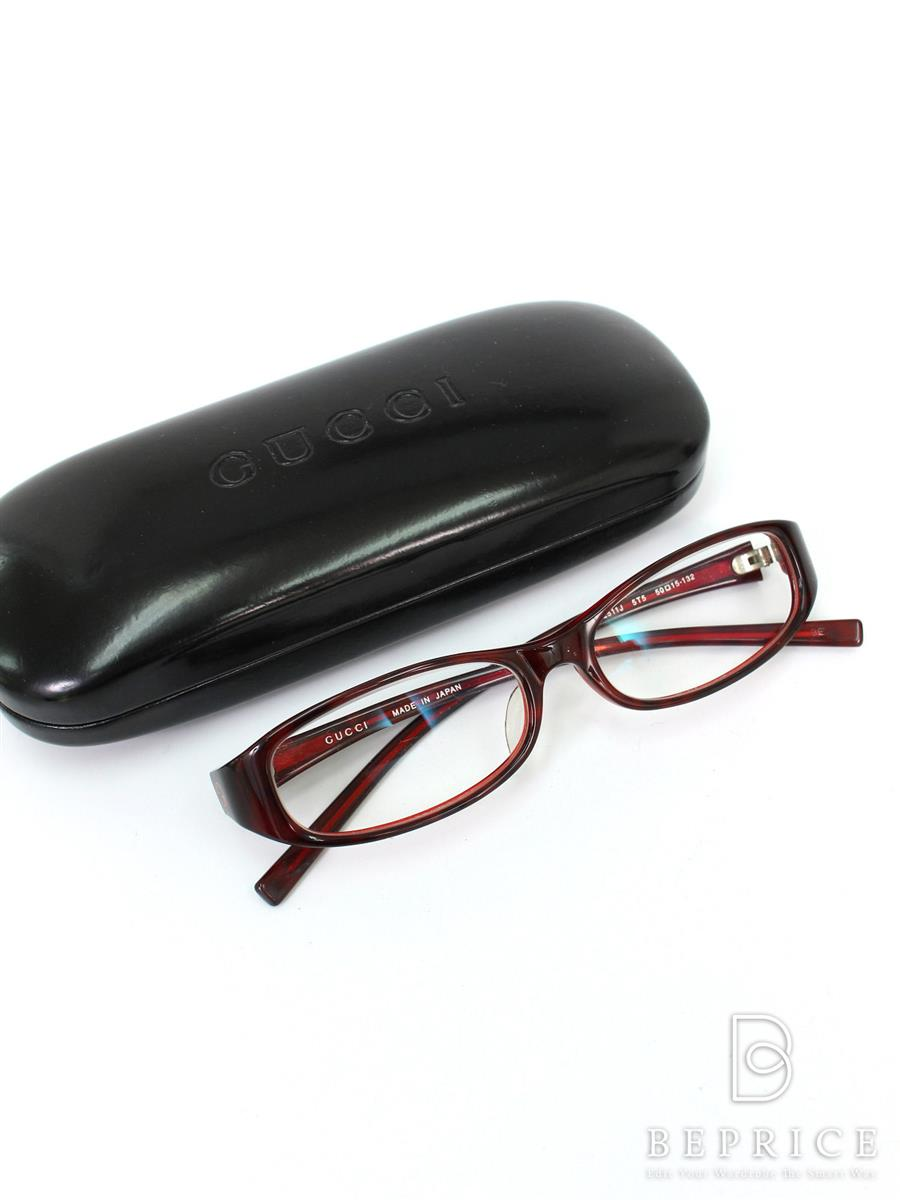 グッチ メガネ 眼鏡 メガネフレーム スレ小傷あり