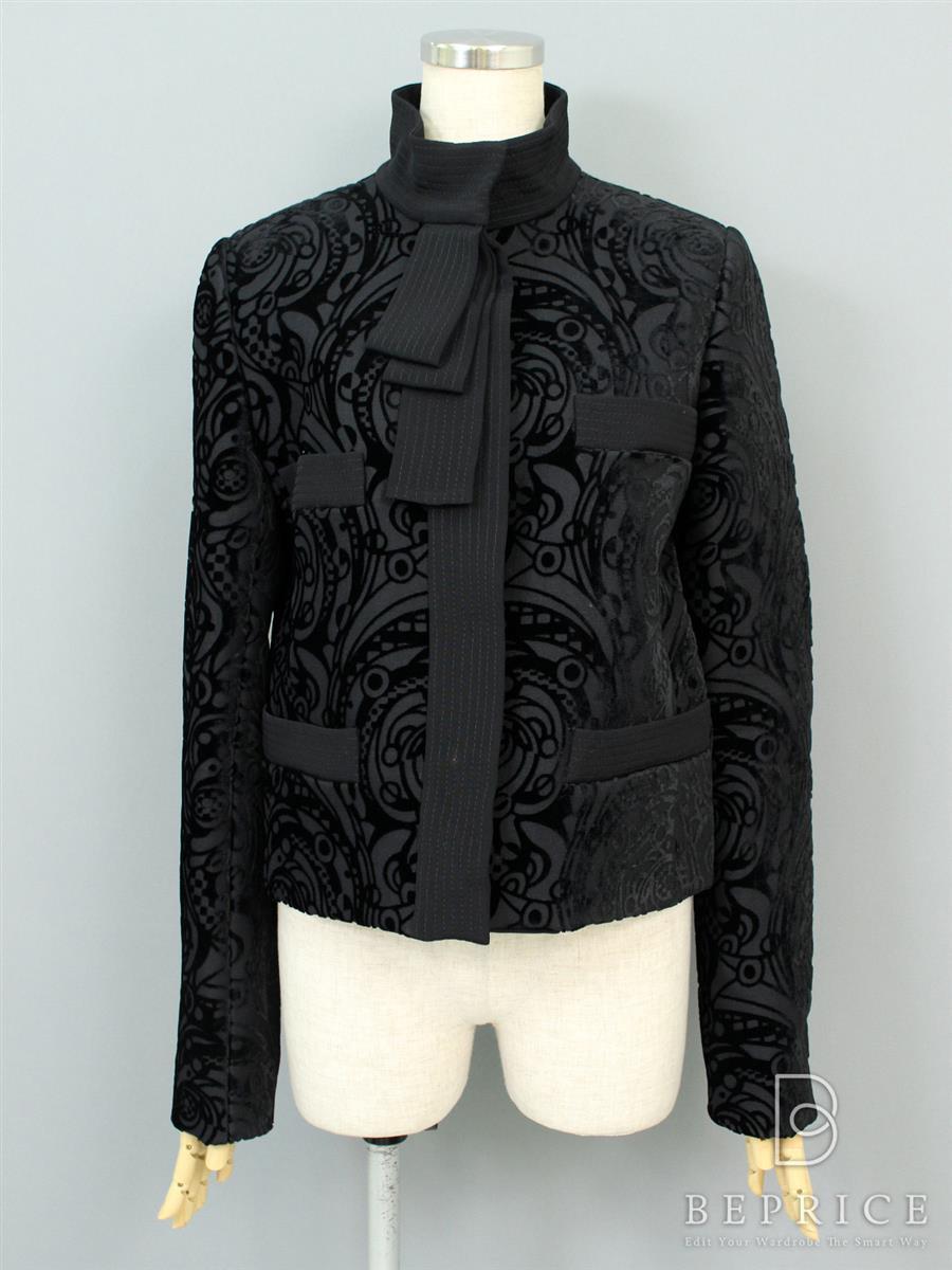 ジャケット ベロア刺繍
