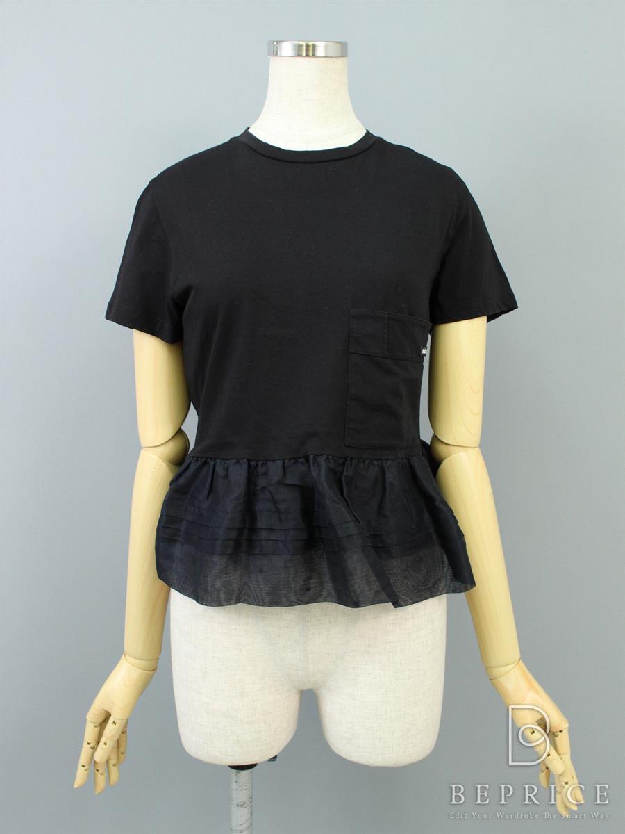 ミュウミュウ Tシャツ カットソー トップス 裾フリル