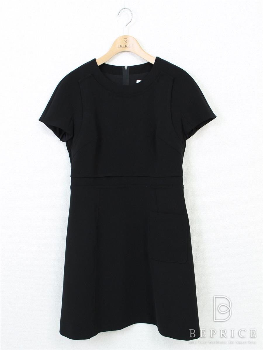 フォクシーニューヨーク ワンピース Topstiched Short Sleeve Mini Dress