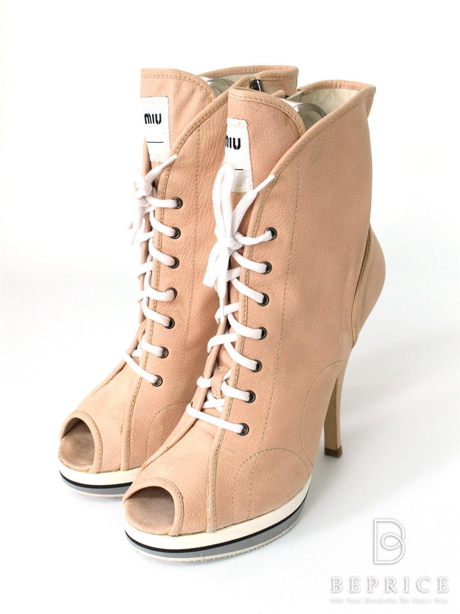 ミュウミュウ ブーツ ショート