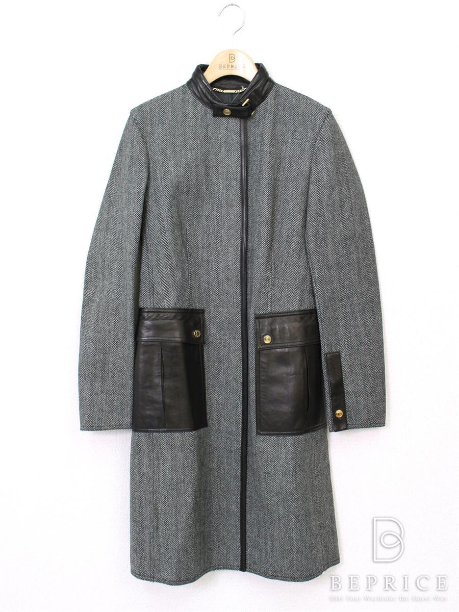 グッチ コート コート ロング 裏地羊革