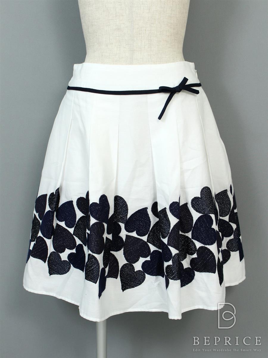 エムズグレイシー スカート ハート 刺繍