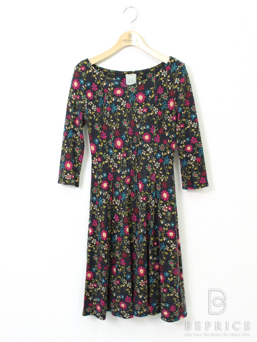 シビラ ワンピース 花柄 長袖