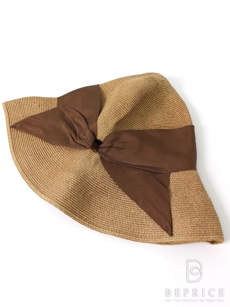 アシーナニューヨーク 帽子 ストローハット