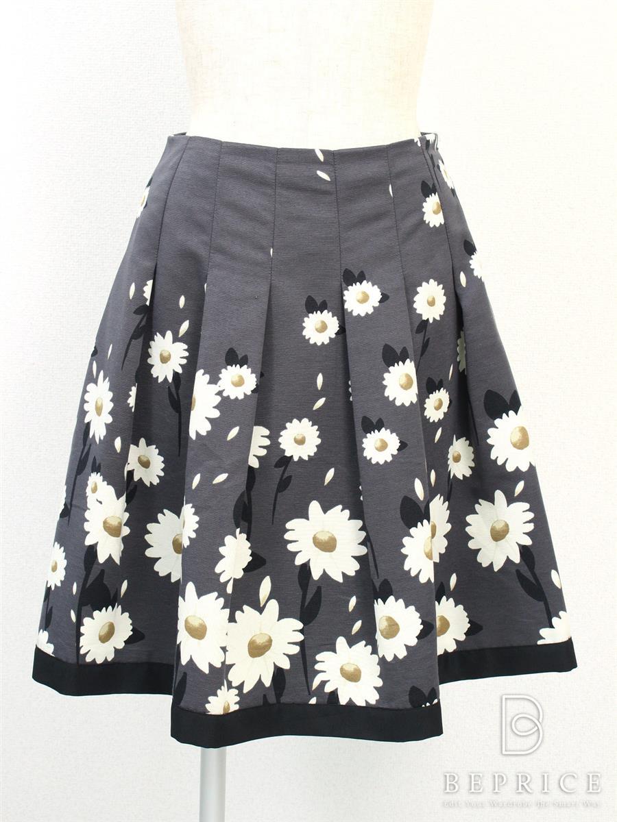 エムズグレイシー スカート フレアー 花柄