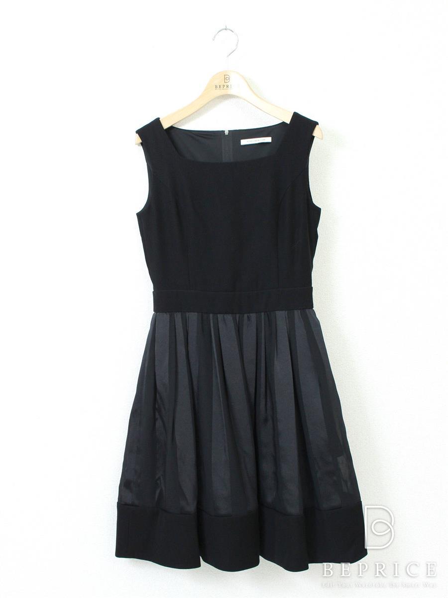 フォクシー ワンピース ストライプスカートドレス