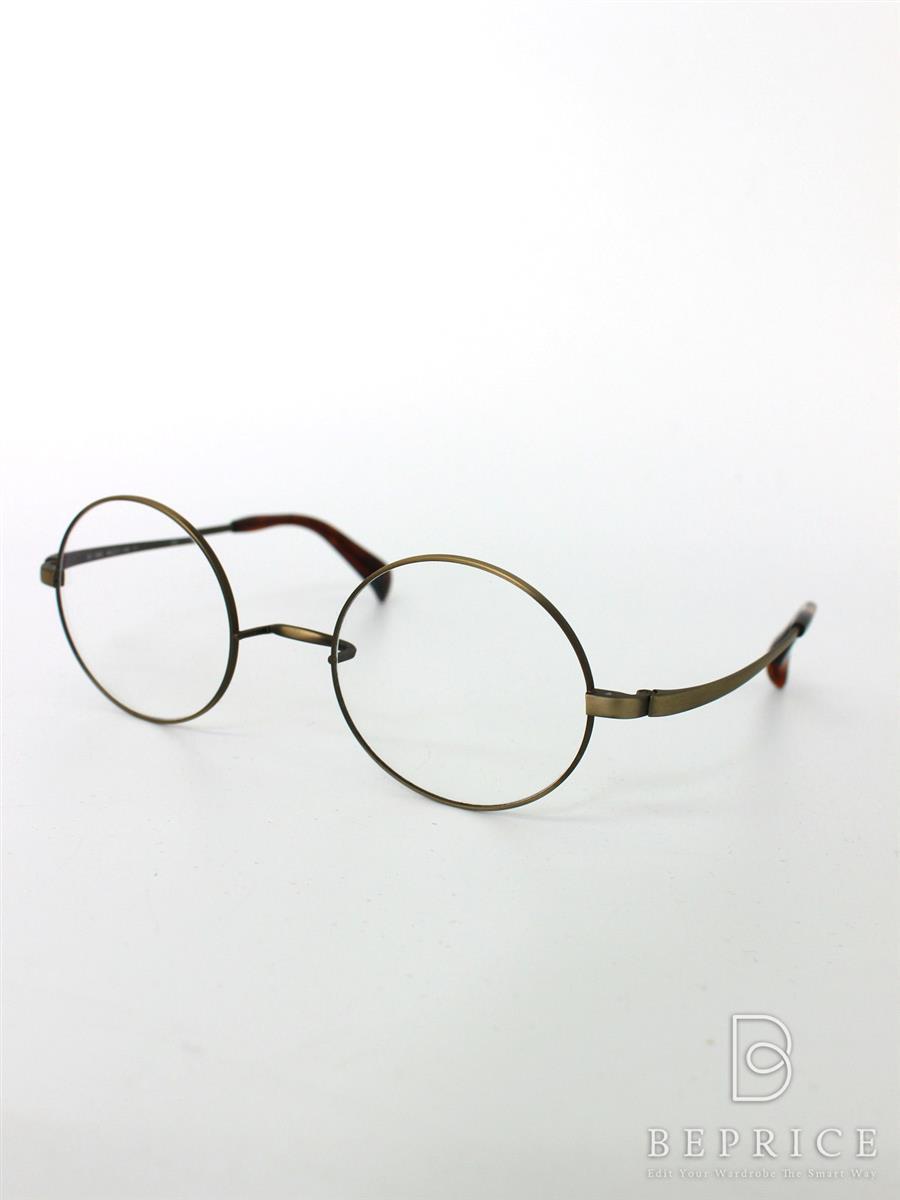 アミパリ 眼鏡 フレーム 丸一山メタル【46□21-140】