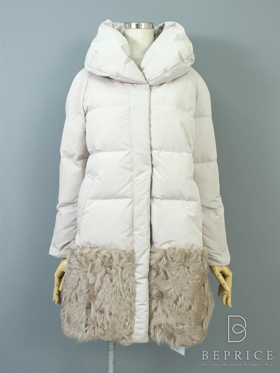 グレースコンチネンタル コート コート ダウン ファー 薄汚れあり