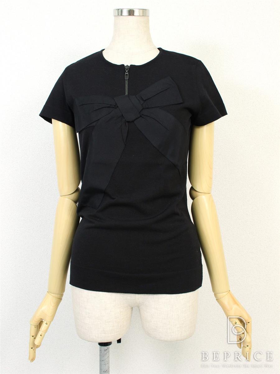 フォクシーブティック Tシャツ カットソー トップス Ribbon Cross 35134