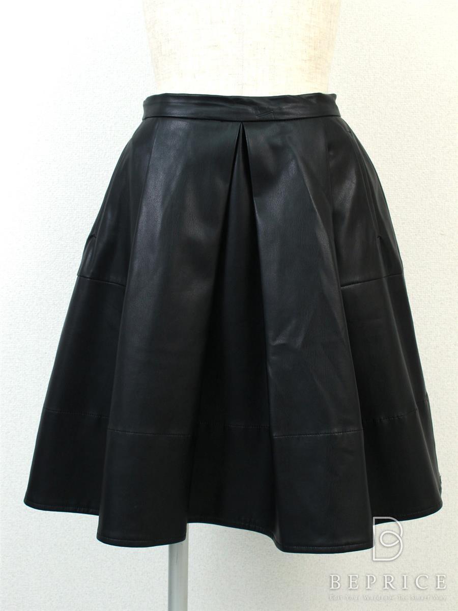 エムズグレイシー スカート スカート フレアー フェイクレザー