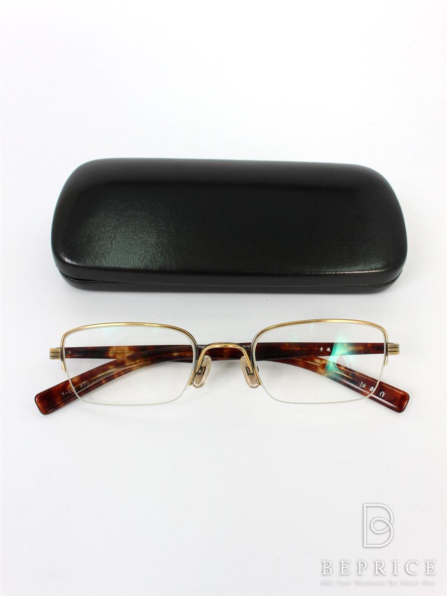 金子眼鏡 メガネフレーム T-237 ATG 恒眸作 メタルナイロール