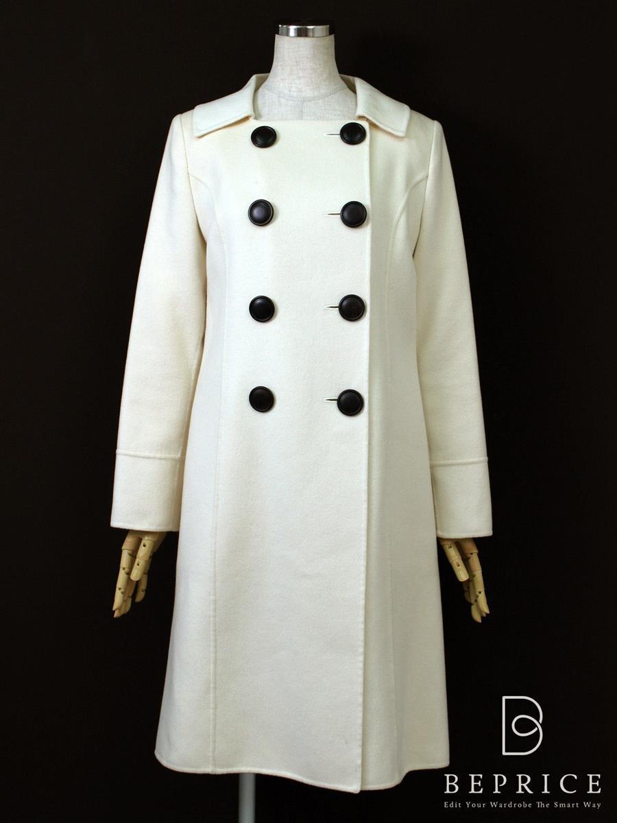フォクシーブティック コート Pコート カシミヤ 内側薄シミあり 23291