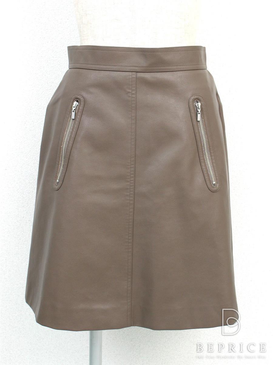 フォクシーニューヨーク スカート Leather Skirt