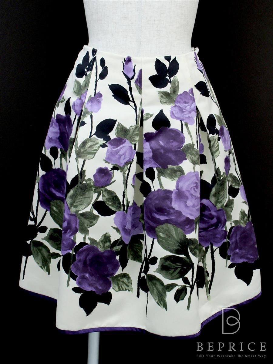 エムズグレイシー スカート スカート フレアー バラ花柄