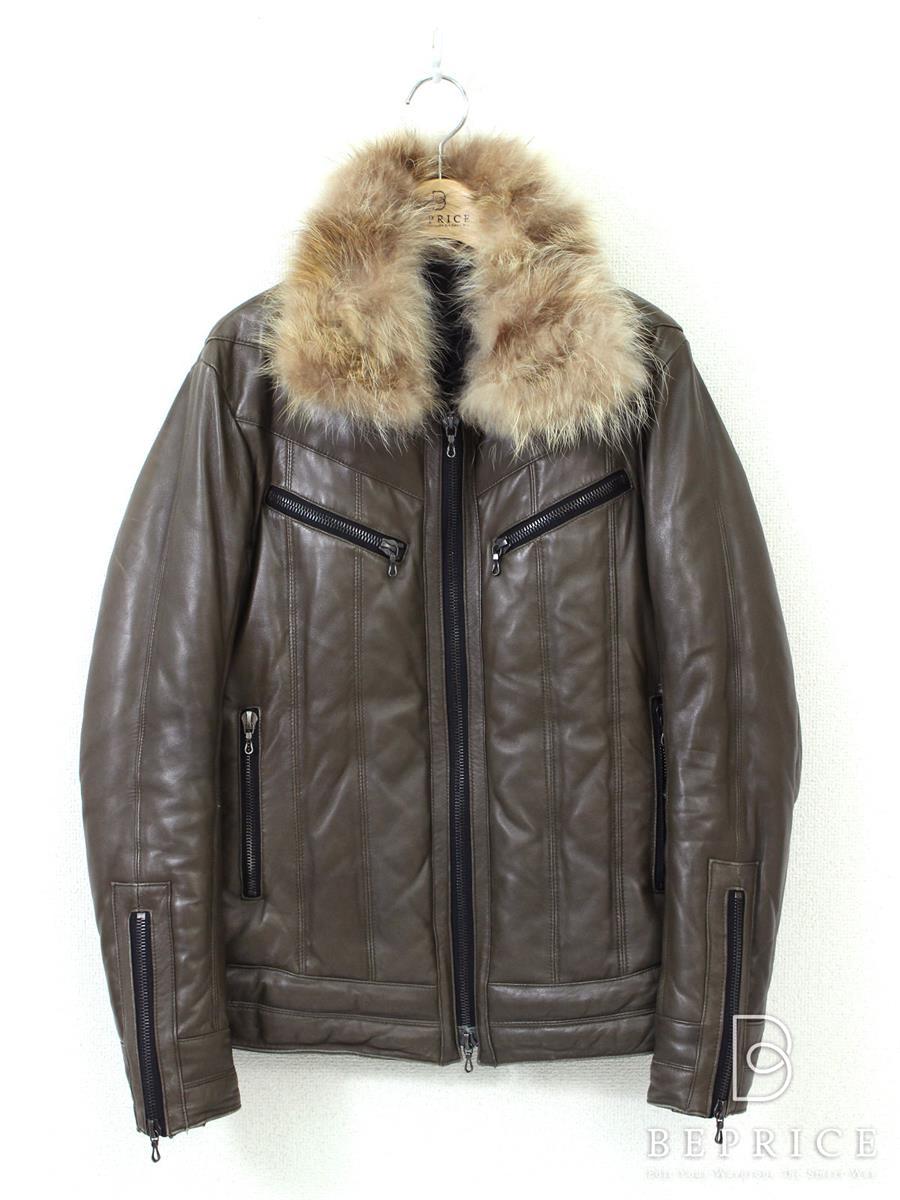シェラック ジャケット SHELLAC シェラック ジャケット 羊革 レザー ファー付 スレ変色あり
