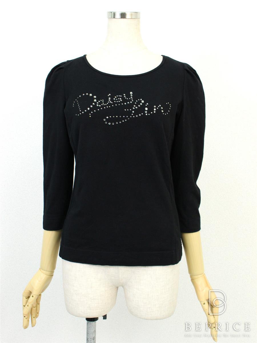 フォクシーニューヨーク Tシャツ カットソー トップス 長袖 カットソー ラインストーン 若干毛羽立ちあり 25097
