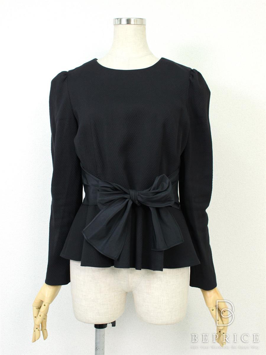 エムズグレイシー Tシャツ カットソー トップス 長袖 腰リボン紐