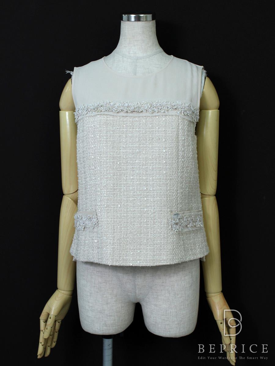フォクシーブティック Tシャツ カットソー トップス classic Tweed 35284
