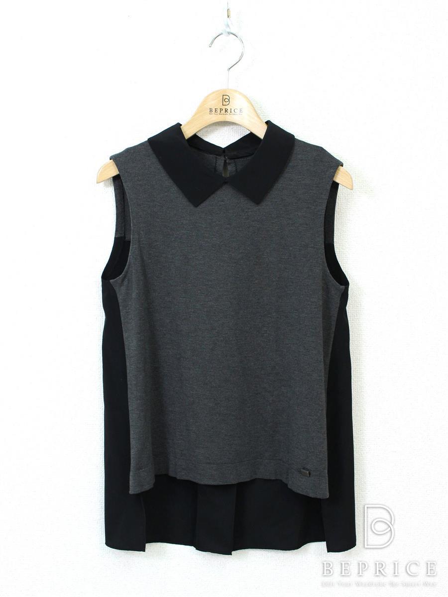 フォクシーブティック Tシャツ カットソー トップス ノースリーブ 襟付 ギャルソンヌ 31215