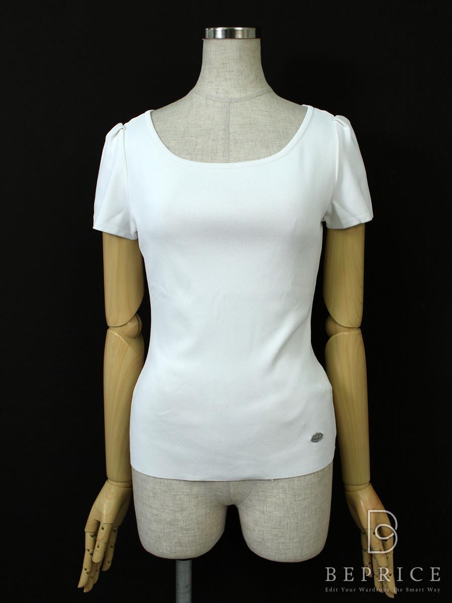 フォクシー Tシャツ カットソー トップス 半袖 Jelly Bean Sweater 薄シミあり 36173