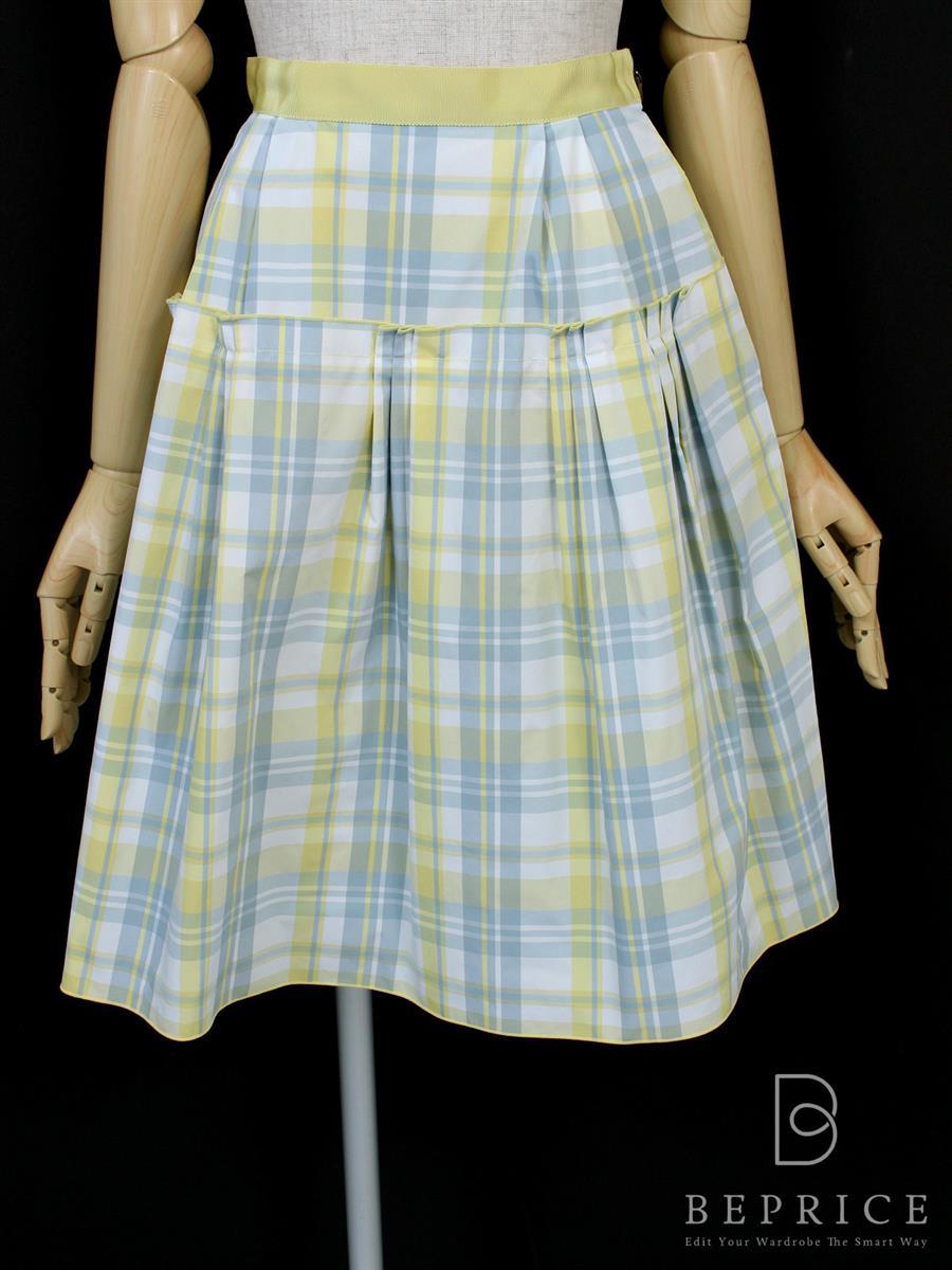 フォクシーニューヨーク スカート スカート フレンチ チェック柄 30028