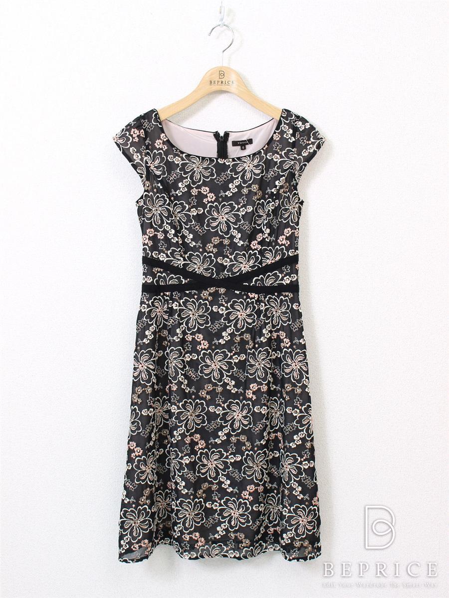 トッカ ワンピース ワンピース 花柄 刺繍
