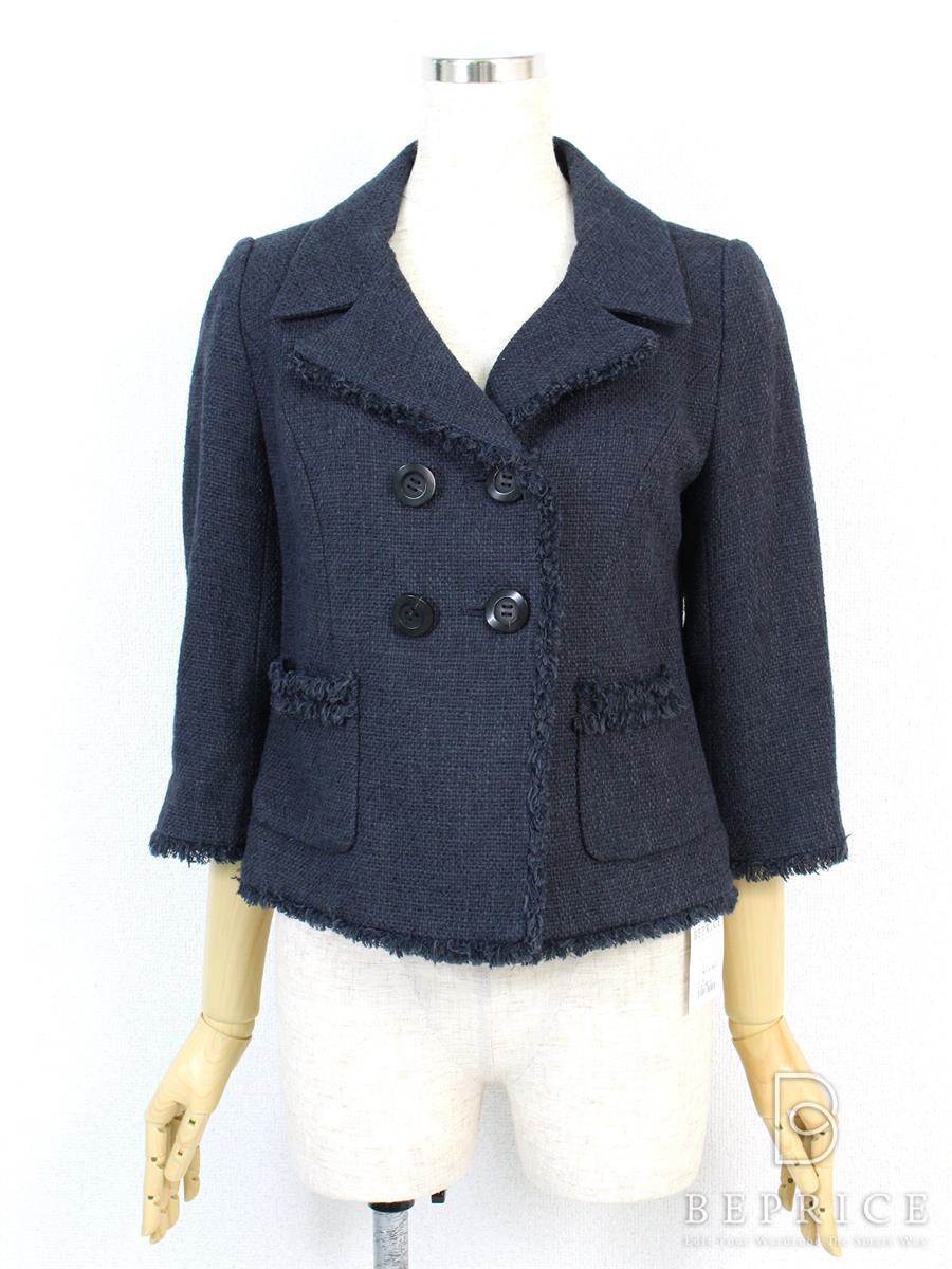 フォクシーブティック ジャケット ジャケット フレンチサブレ 襟元に若干変色あり 29768