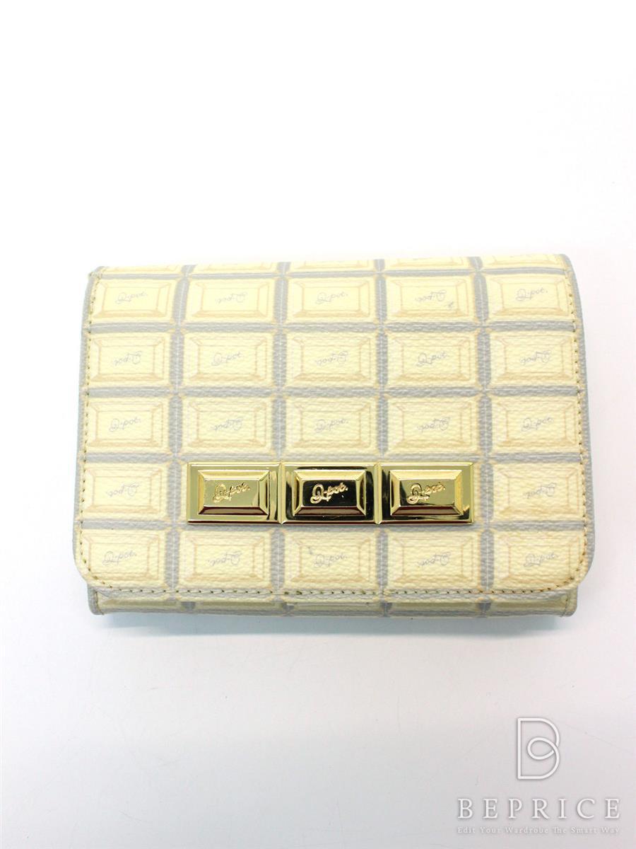 キューポット 財布 Q-pot キューポット 財布 チョコレートショート 薄汚れあり